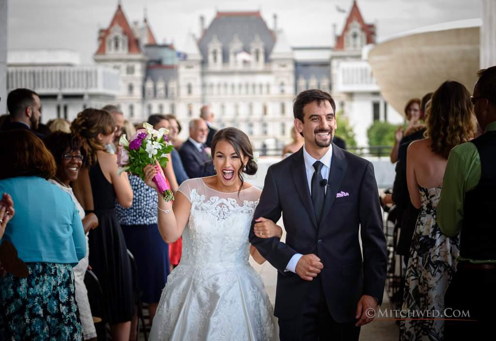 NY state museum wedding photos