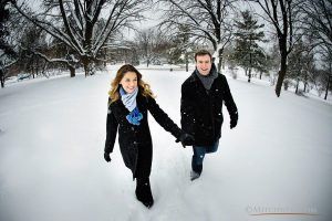 Deirdre + Dan's Winter Engagement Photos Albany Wedding Photographer