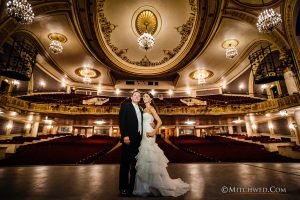 Key Hall Wedding Photographer On Stage in Schenectady